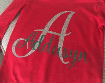 Personalized Name and Initial Tee Shirt
