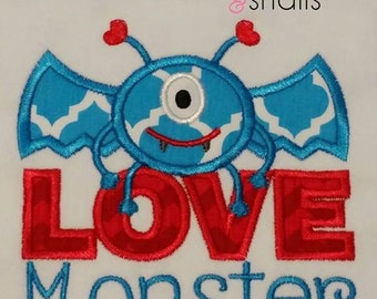 Love Monster Applique Shirt