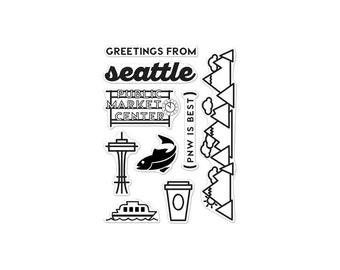Seattle Clear Stamps - Hero Arts Clearly Kelly
