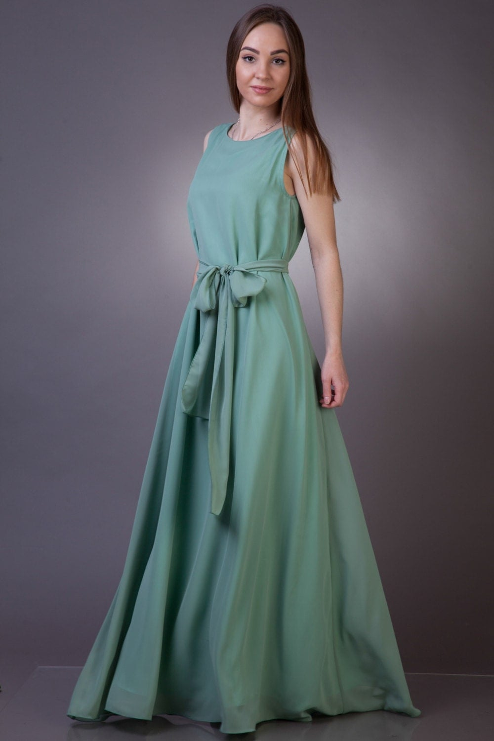 Long sage bridesmaid dress sage green bridesmaid dress long details georgeus singlecutted sage chiffon dress ombrellifo Gallery