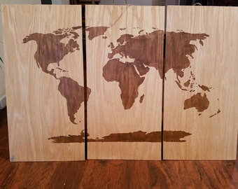 Items similar to graffiti spray art world map with spell 40x60cm wood wall art world map gumiabroncs Choice Image