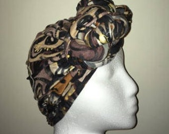 Tribal Print PRE-Tied / Fitted Headwrap