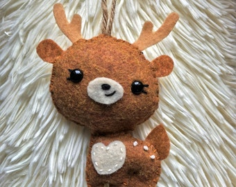 Felt Deer Christmas Ornament