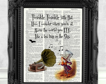 Alice in Wonderland Print Alice in Wonderland Wall Art Alice in Wonderland Quote Alice in Wonderland Decor Alice in Wonderland Party  149