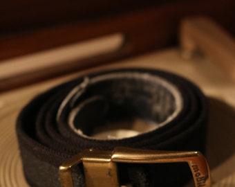True vintage 70s East German black belt 104 cm