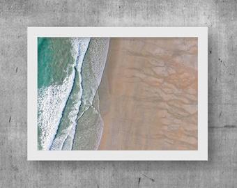 Low Tide Print, Wall Art, Digital Print, Printable Download, Drone, Aerial, Photo, Home Decor, Ocean, Digital Download, Beach, Poster