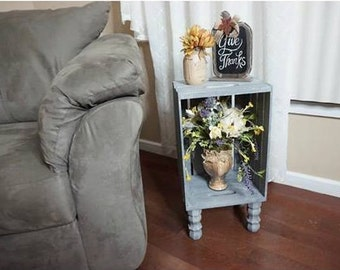 Wine Crate Side Table/Nightstand