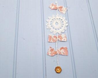 Farmhouse style flower wall hanging, valentines gift, rustic wedding decor, nursery decor, housewarming gifts