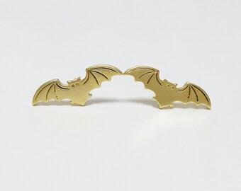 Bat Earrings, Gold Bat Studs, Silver Bat Studs, Batman Stud Earrings, Halloween Jewelry, Batman Earrings