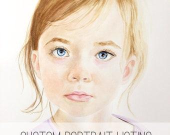 Watercolor portrait | Custom watercolor portrait | Custom painting l Child painting | Grandchild painting