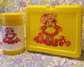Vintage Lunch box mushroom cherry character
