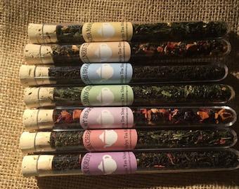 Tea Gift Set - Tea Test Tubes -  Mothers Day Gift Set