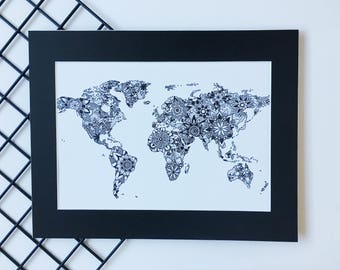 World Wall Art world map wall art | etsy