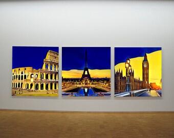 London, Paris or Rome Canvas Art