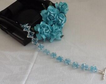 Bracelet - Aqua Crystals