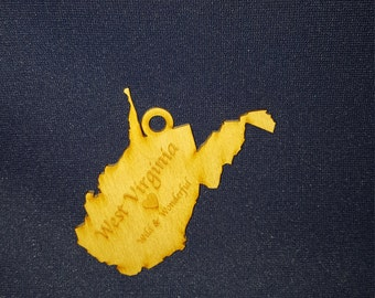 West Virginia Wild and Wonderful state ornament