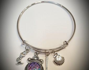 Disney little mermaid inspired bracelet