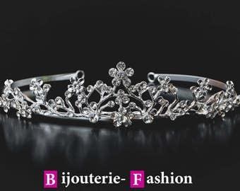 "Diadem ""Marina"",Tiara, Crystal Crown,Bridal Tiara,Swarovski Crystal,Wedding tiara,Crown,Czech stones,accessory,royal diadem."