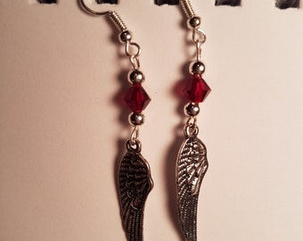 Red Angel Wings earrings