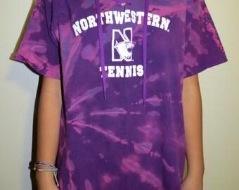 College Lace up Tee (Northwestern University Tennis)