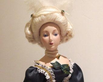 "18"" Marie Antoinette Porcelain Doll by The Franklin Mint"