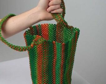 African woven bag