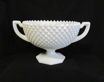Vintage Westmoreland Milk Glass, Milk Glass Bowl, Saw Tooth Pattern