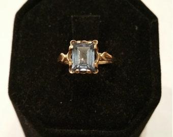 Stunning Ladies Aquamarine Ring 10kt - #123