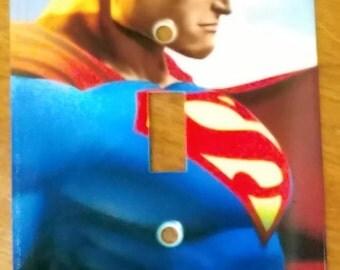 Superman Metal Light Switch Plate