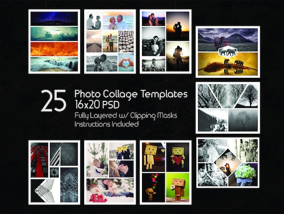 X Photo Collage Templates Pack  Psd Templates Photoshop