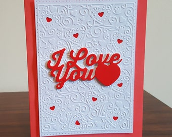 I Love You Anniversary Cards, Birthday Cards, Cards for Her, Cards for Him, Love Cards