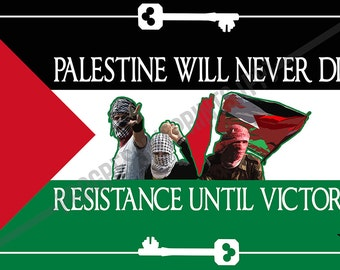 Poster, Palestine, Resistance Until Victory