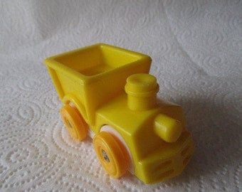 Vintage 1970's Fisher Price Little People Truck - Yellow