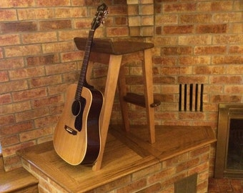Wood Guitar/Stand Combination