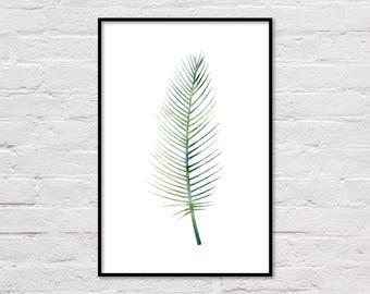 Tropical Print, Printable Palm Leaf Poster, Tropical Art, Tropical Leaf Print, Palm Leaf Poster, Palm Art, Tropical Plant Print, Download