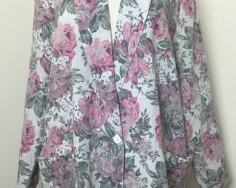 Raphael Lozenge California 1980s oversized floral blazer