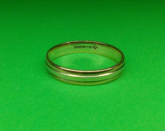 Men's two tone 9ct gold ring size z