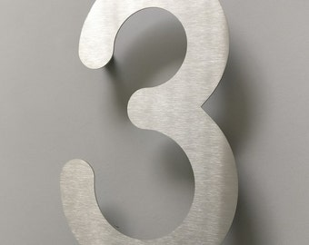 Brushed Stainless Steel Letter or Number + Spacer
