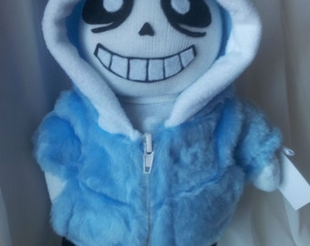 Sans from Undertale soft toy hand stitched n stuffed with holofiber/Sans plush