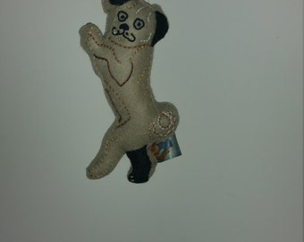 Pug Dog Art Doll