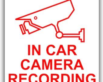 In Car Camera Recording Sticker-CCTV Sign-Van,Lorry,Truck,Taxi,Bus,Mini Cab-Ext