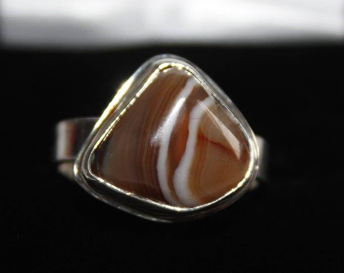 Lake Superior Agate Ring: LSAR-8  Size 9.5
