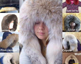 Real fur hood transformation