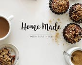 Sweet mockup | Digital styled photo | Cupcakes | Baking background | Healthy food photo | Foodies mockup | Place for text | Instant download