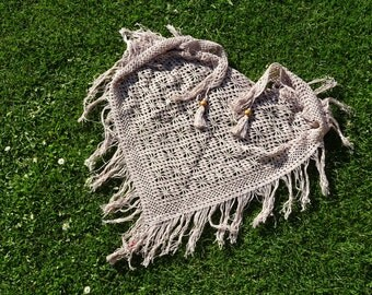 Boho Shawl Cotton Fringe Beads