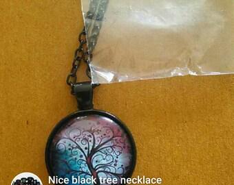 Nice Mistic Black Tree Necklace
