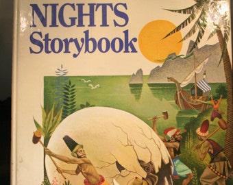 Vintage 1968 Arabians Night Storybook; Hardback Arabians Night Storybook; collectible storybook