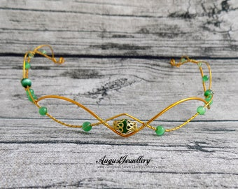 Gold Elven Circlet - Elven circlet - Elven Headpiece - Elven Crown - Wedding - Fairy - Elven Headdress - Princess - Renaissance Circlet