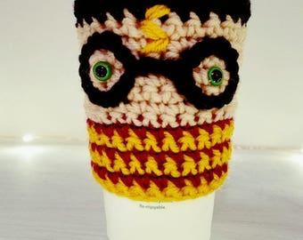 Harry Potter Coffee Cozy Crochet Pattern-Instant Download