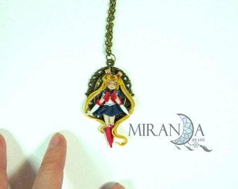 Fimo necklace, Sailor Moon Fimo Polymer clay fimo doll necklace Sailor Moon